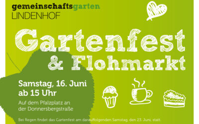 Gartenfest und Flohmarkt am 16. Juni 2018