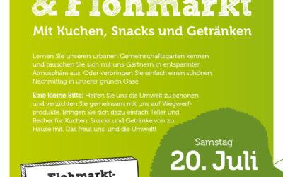 Gartenfest und Flohmarkt am 20. Juli 2019