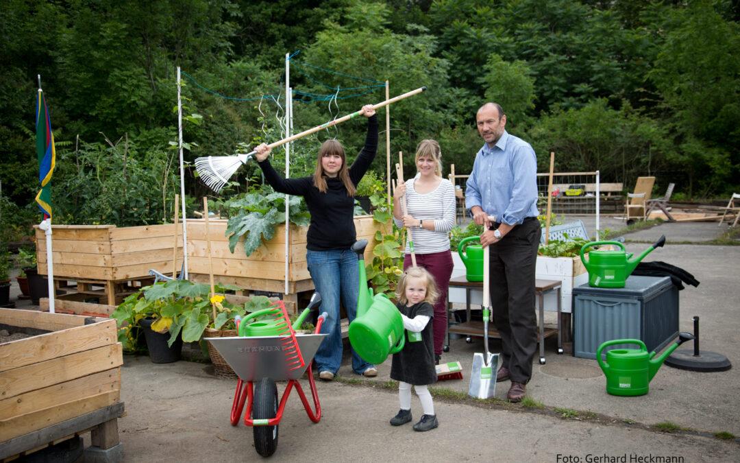Gerätschaften-Sponsoring für den Garten